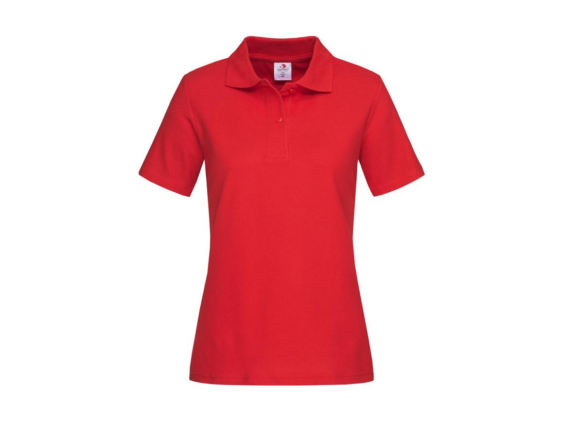 Stedman Polo Women, Scarlet Red, XL bedrucken, Art.-Nr. 505054026