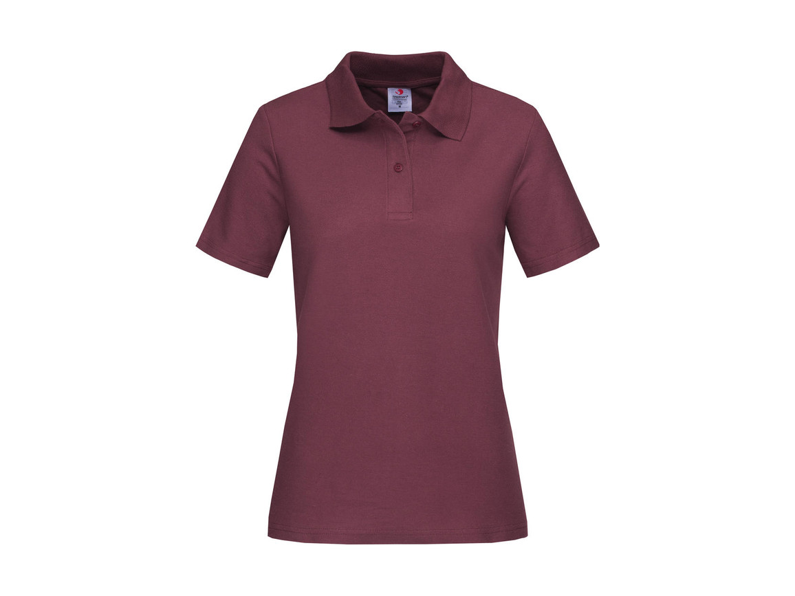 Stedman Polo Women, Burgundy Red, XL bedrucken, Art.-Nr. 505054486
