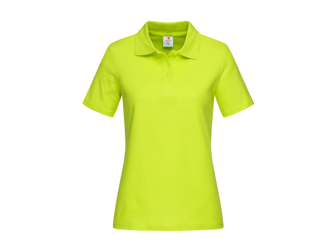 Stedman Polo Women, Bright Lime, L bedrucken, Art.-Nr. 505055235