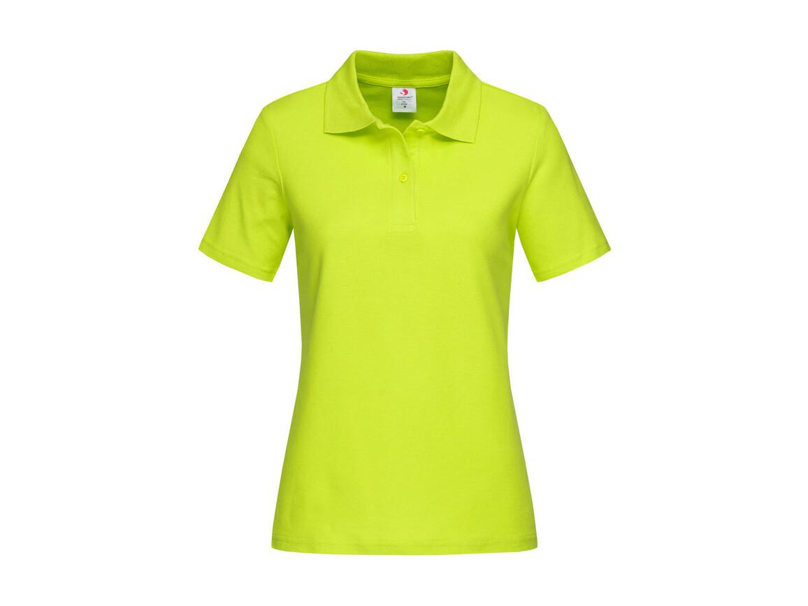 Stedman Polo Women, Bright Lime, M bedrucken, Art.-Nr. 505055234