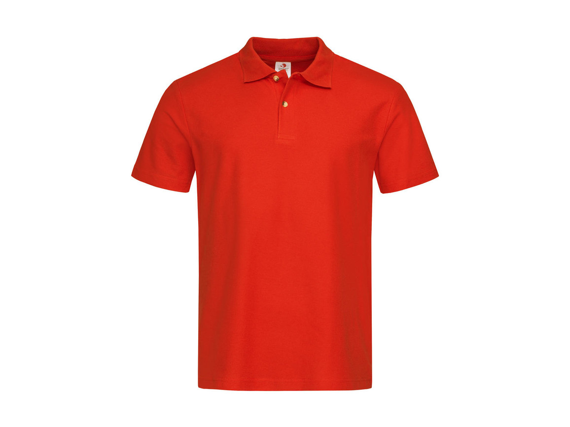 Stedman Polo, Brilliant Orange, XL bedrucken, Art.-Nr. 506054146