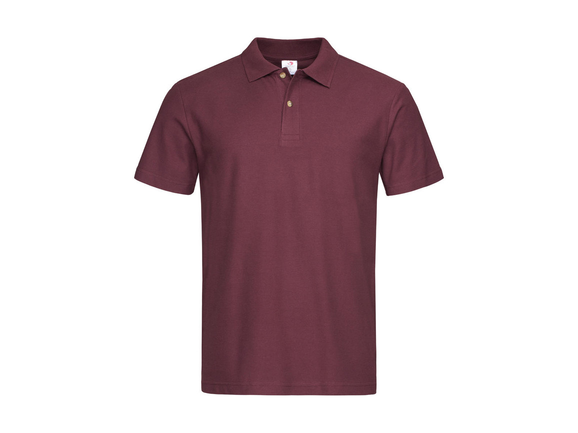 Stedman Polo, Burgundy Red, L bedrucken, Art.-Nr. 506054485