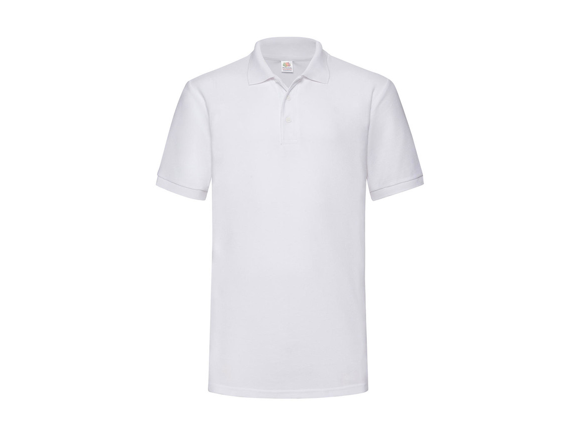 Fruit of the Loom Heavyweight 65:35 Polo, White, S bedrucken, Art.-Nr. 507010003