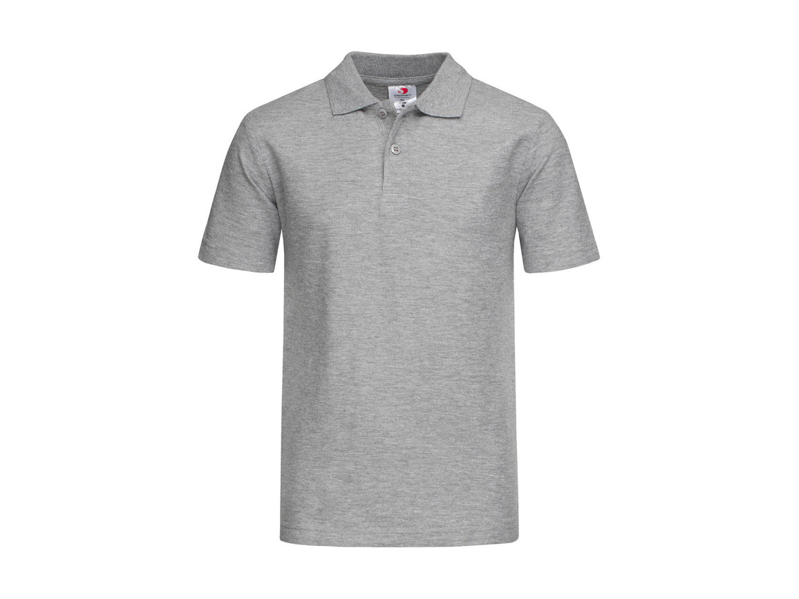Stedman Polo Kids, Grey Heather, XL bedrucken, Art.-Nr. 508051236