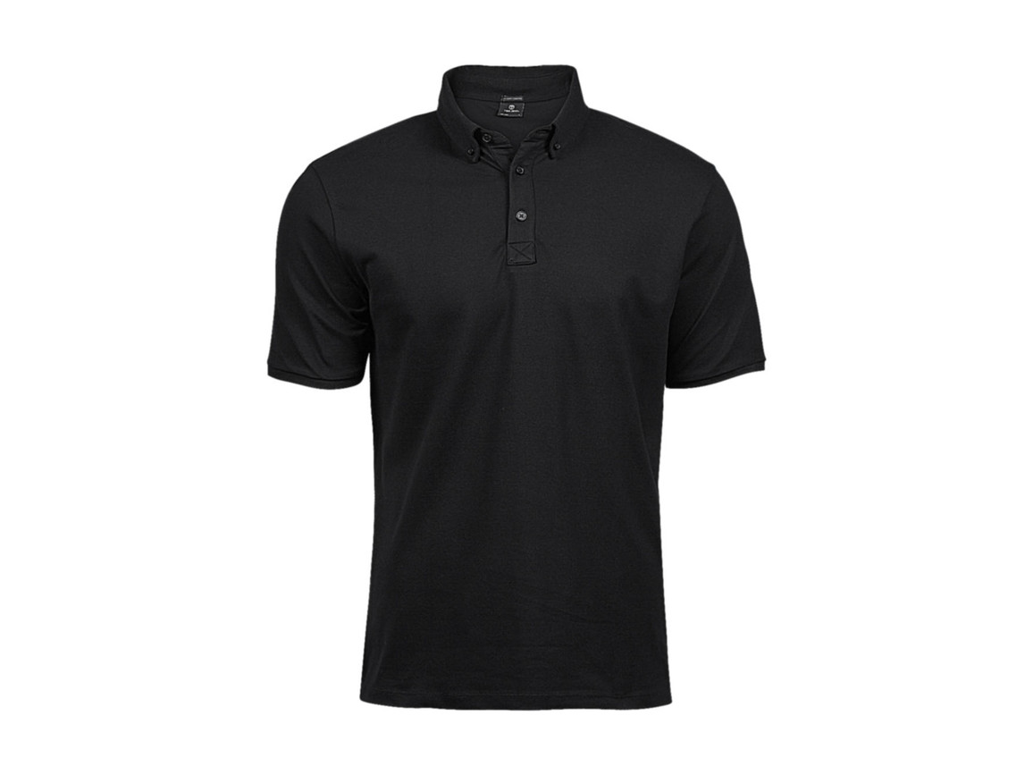 Tee Jays Fashion Luxury Stretch Polo, Black, 2XL bedrucken, Art.-Nr. 509541016