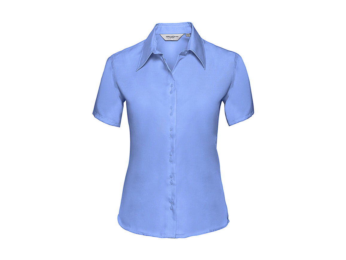 Russell Europe Ladies` Ultimate Non-iron Shirt, Bright Sky, 4XL (48) bedrucken, Art.-Nr. 707003109