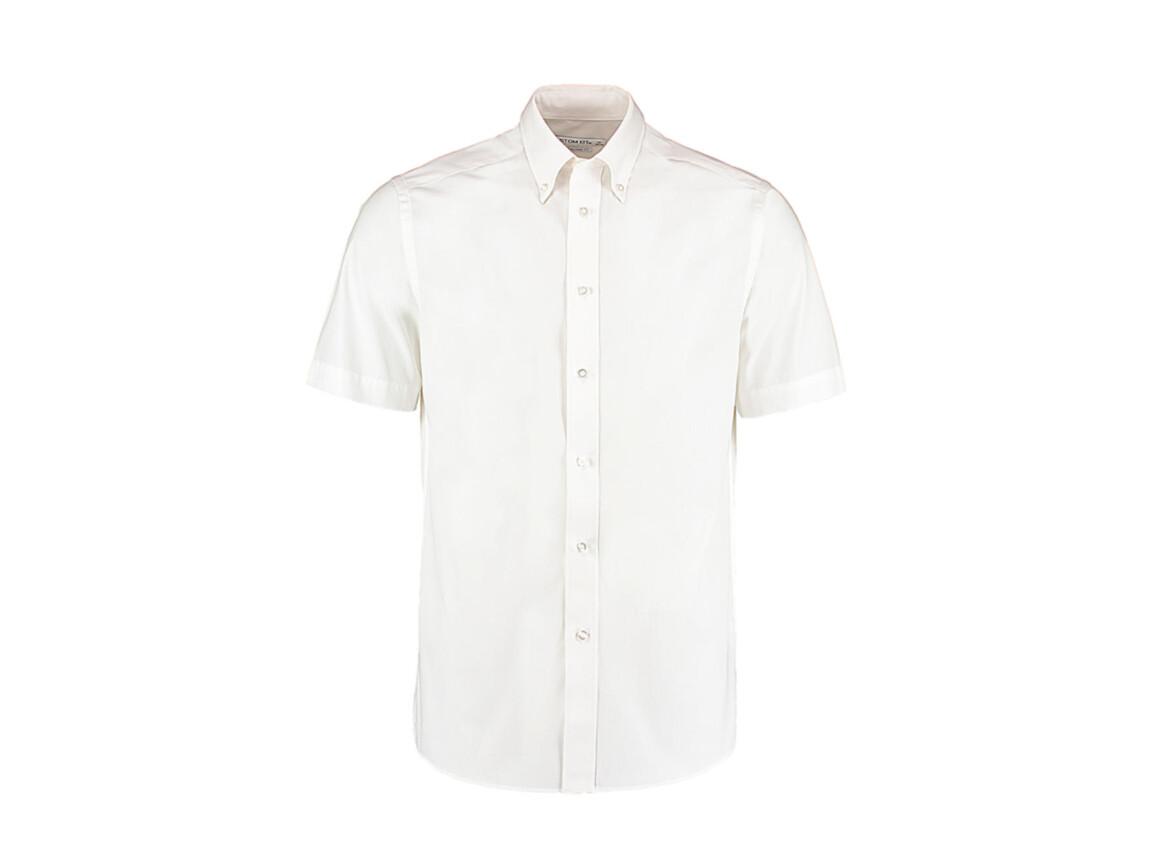 Kustom Kit Tailored Fit City Shirt SSL, White, 2XL (47cm) bedrucken, Art.-Nr. 725110008