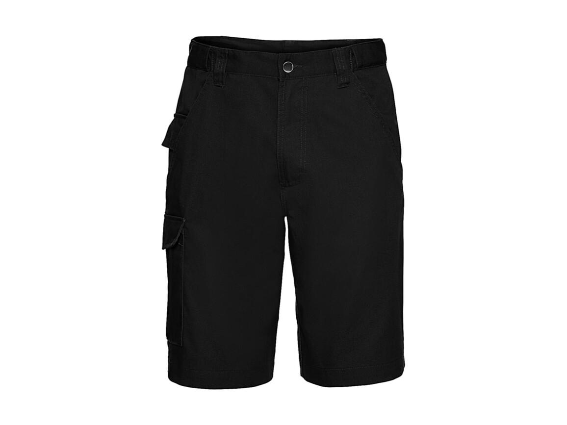 """Russell Europe Twill Workwear Shorts, Black, 34"""" (86cm) bedrucken, Art.-Nr. 991001014"""