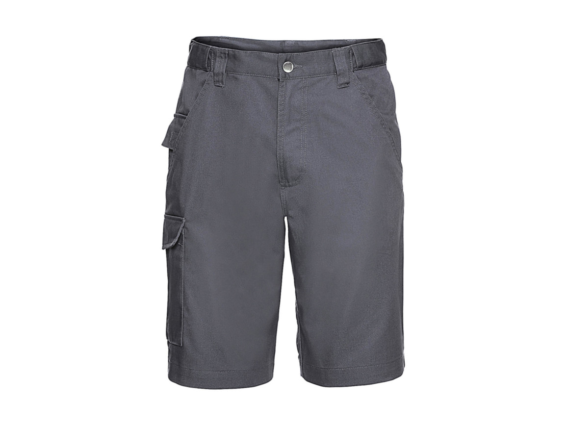 "Russell Europe Twill Workwear Shorts, Convoy Grey, 30"" (76cm) bedrucken, Art.-Nr. 991001272"