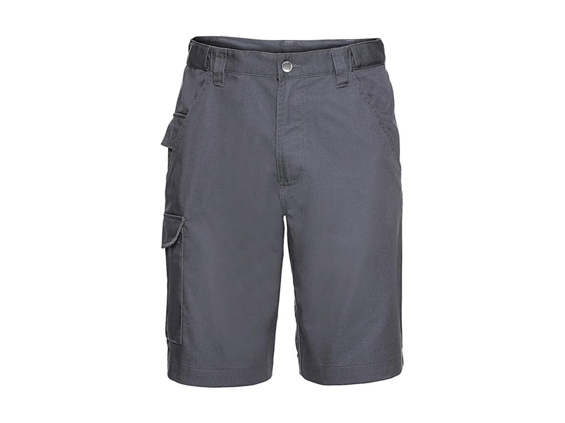 "Russell Europe Twill Workwear Shorts, Convoy Grey, 46"" (117cm) bedrucken, Art.-Nr. 991001270"