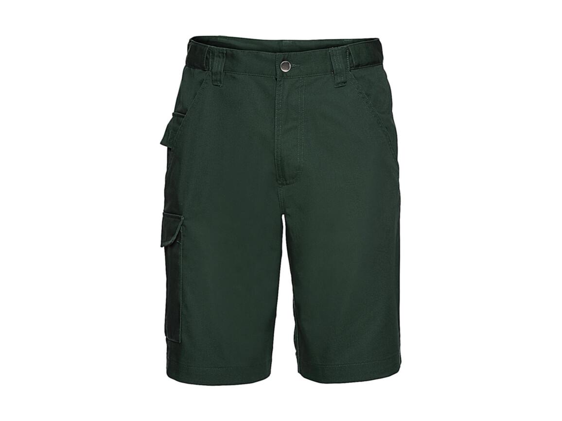 """Russell Europe Twill Workwear Shorts, Bottle Green, 32"""" (81cm) bedrucken, Art.-Nr. 991005403"""