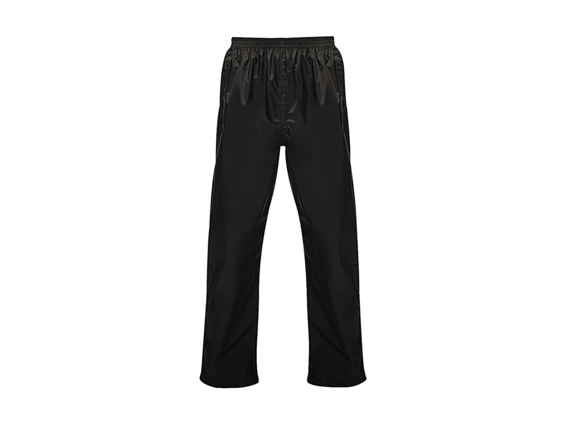 Regatta Pro Pack Away Overtrousers, Black, S bedrucken, Art.-Nr. 992171013