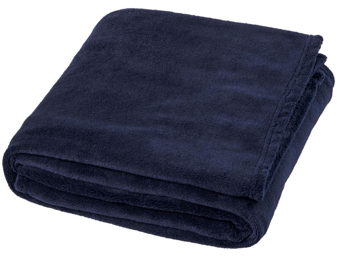 Bay Plaid-Decke aus extraweichem Coral-Fleece, dunkelblau bedrucken, Art.-Nr. 11281003