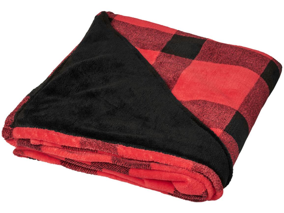 Buffalo ultraplüschige karierte Decke, rot bedrucken, Art.-Nr. 11298702