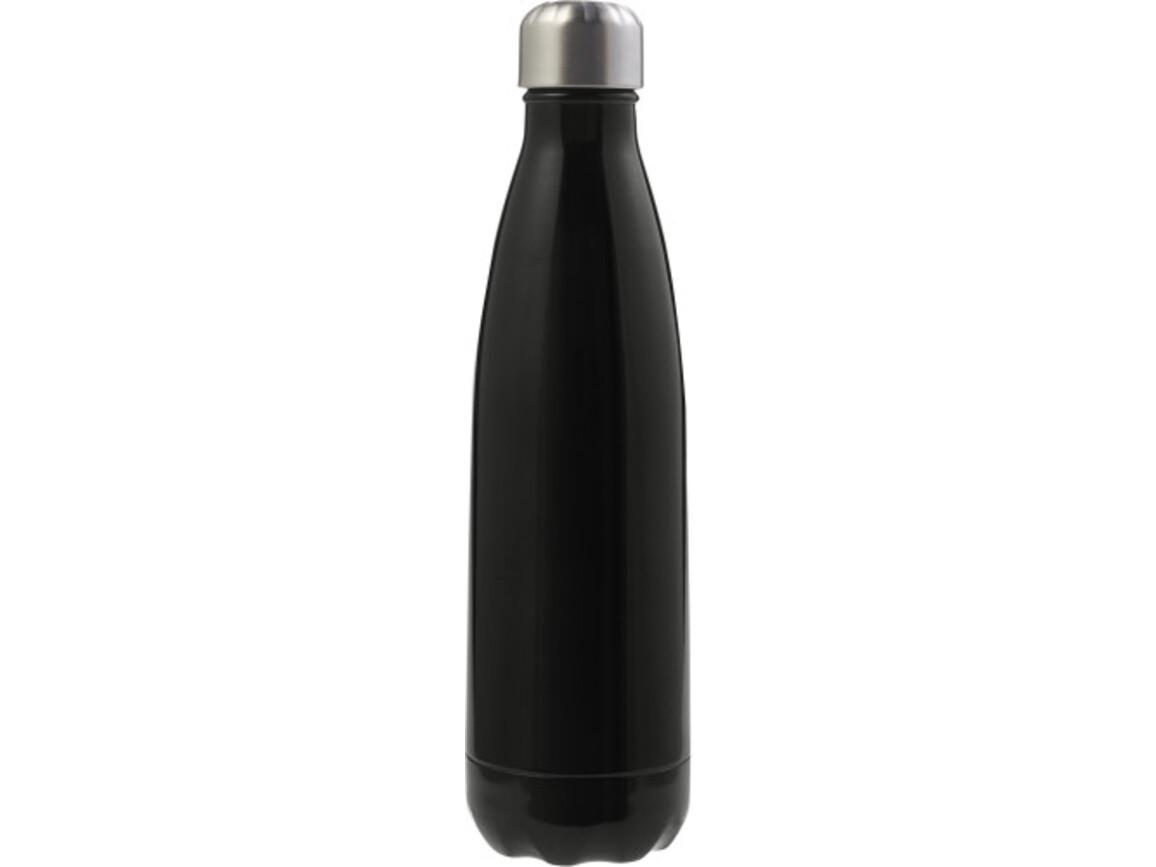 Doppelwandige Trinkflasche 'Lombok' aus Edelstahl – Schwarz bedrucken, Art.-Nr. 001999999_8223