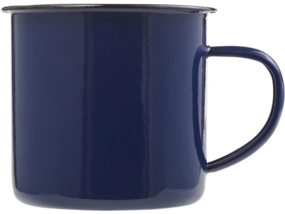Emaille-Becher 'Wild' aus Metall – Blau bedrucken, Art.-Nr. 005999999_8537