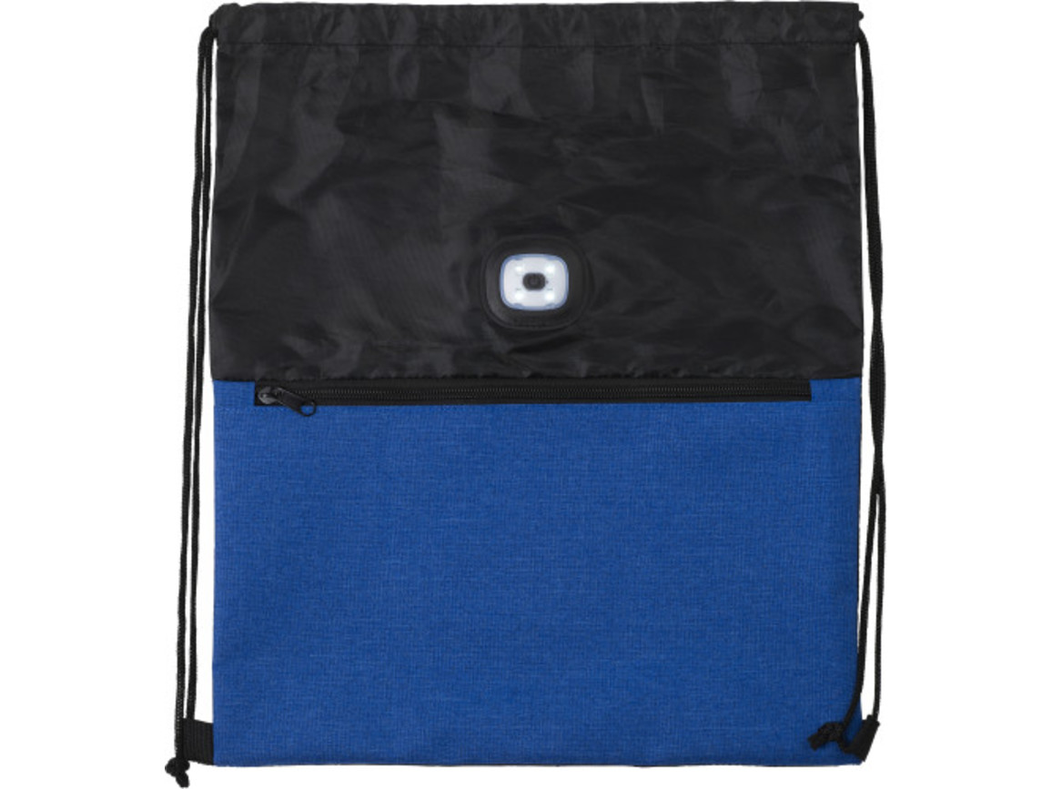 Turnbeutel 'Duo' aus Polyester – Kobaltblau bedrucken, Art.-Nr. 023999999_9062