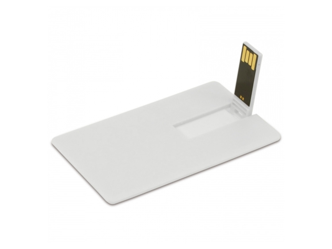 USB 8GB Flash drive Kreditkarte - Weiss bedrucken, Art.-Nr. LT26303-N0001