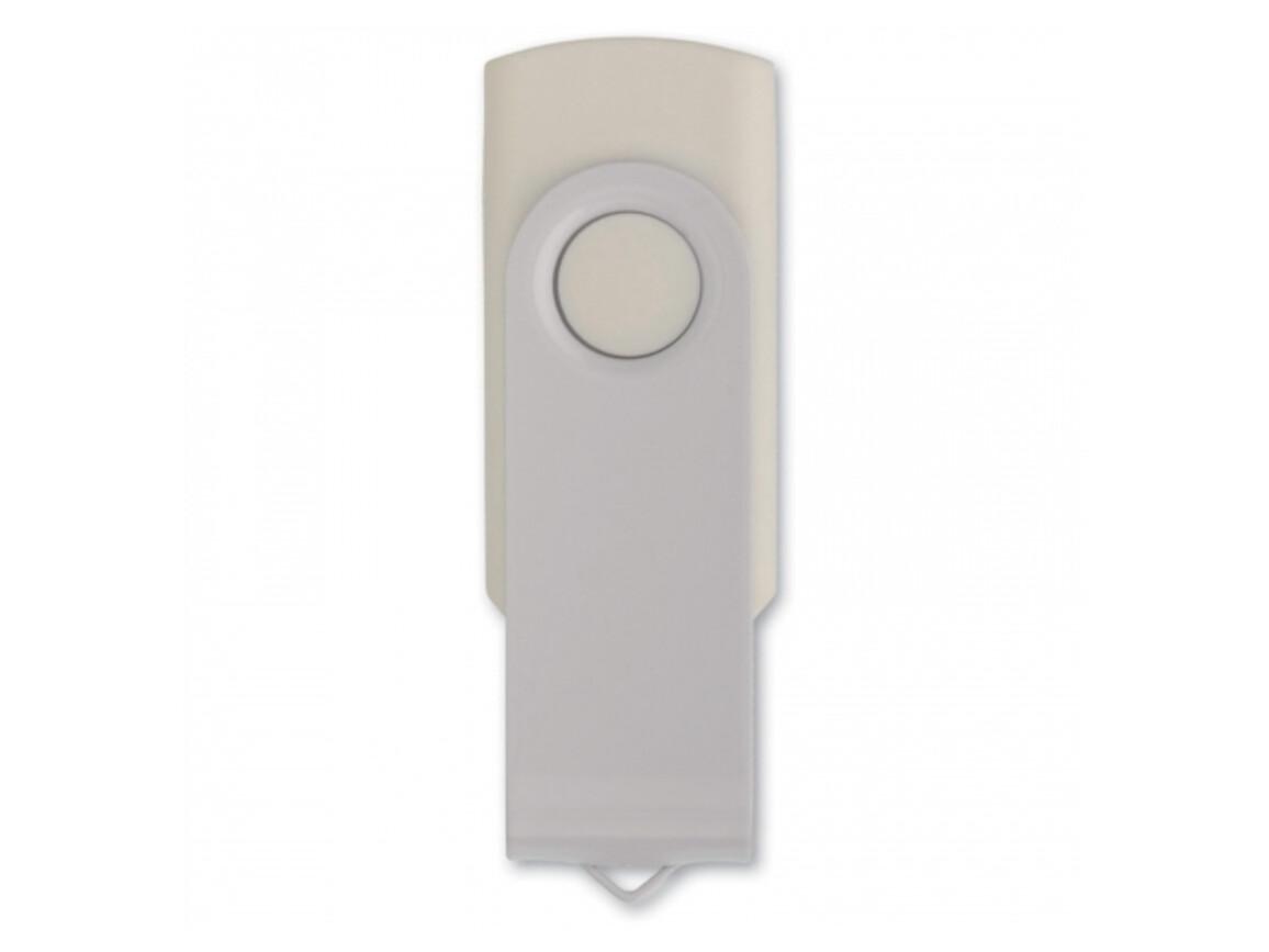 USB 4GB Flash drive Twister - Weiss bedrucken, Art.-Nr. LT26402-N0001