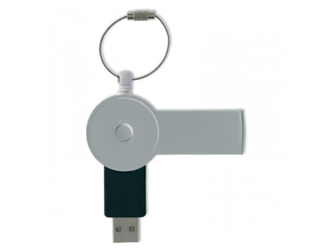 USB 4GB Flash drive Safety Twist - Silber bedrucken, Art.-Nr. LT26702-N0005