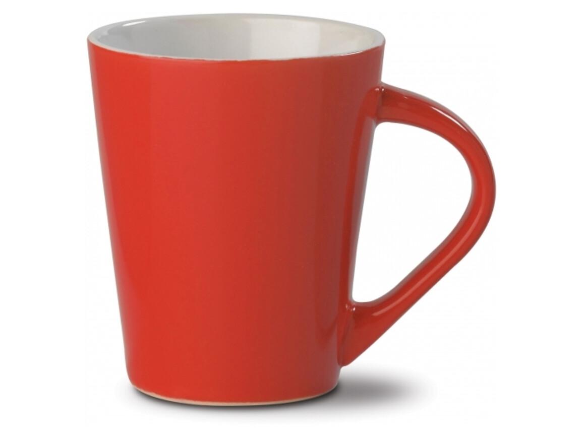 Kaffeebecher Nice hellrot 250ml - Rot bedrucken, Art.-Nr. LT51431-N0021
