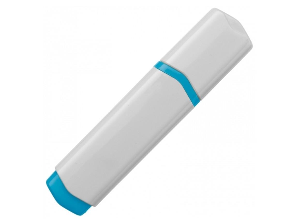 Textmarker - Weiss / Blau bedrucken, Art.-Nr. LT81283-N0111