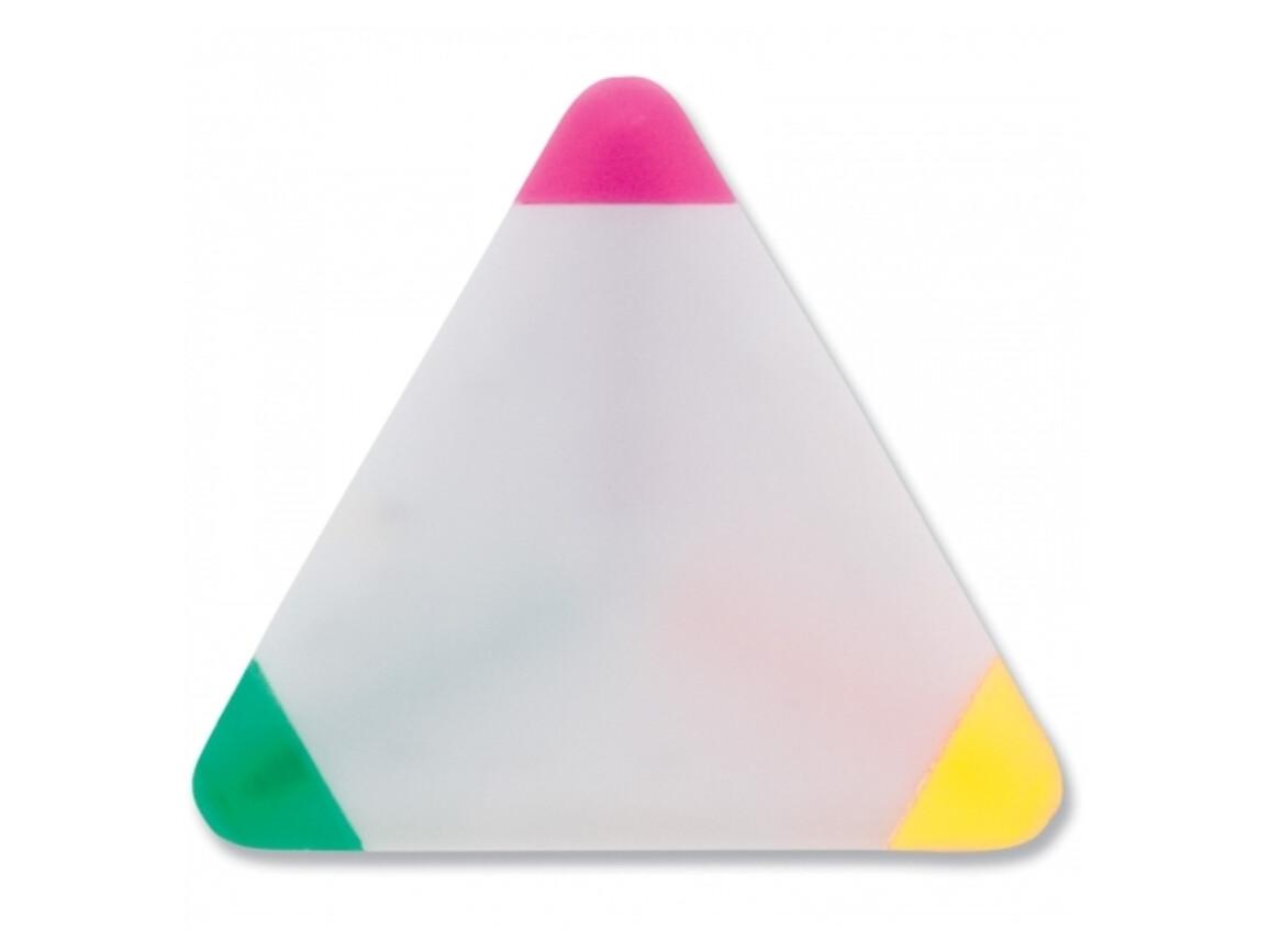 Textmarker Dreieck - Weiss bedrucken, Art.-Nr. LT81423-N0001
