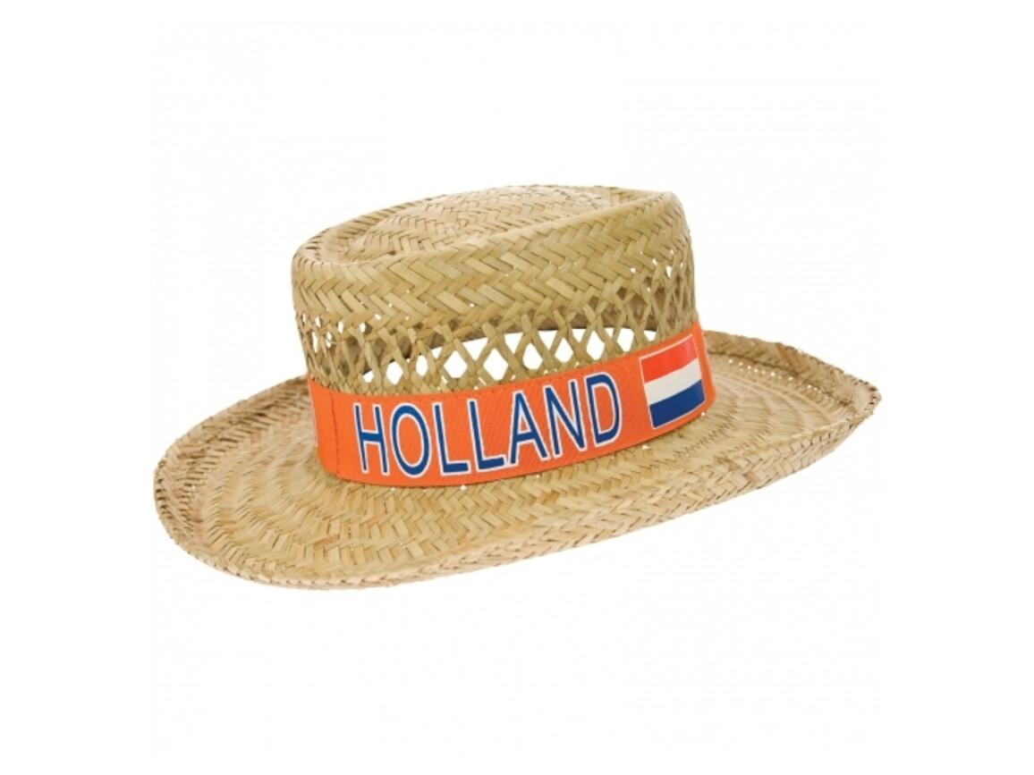 Strohhut Holland - Orange bedrucken, Art.-Nr. LT16038-N0026
