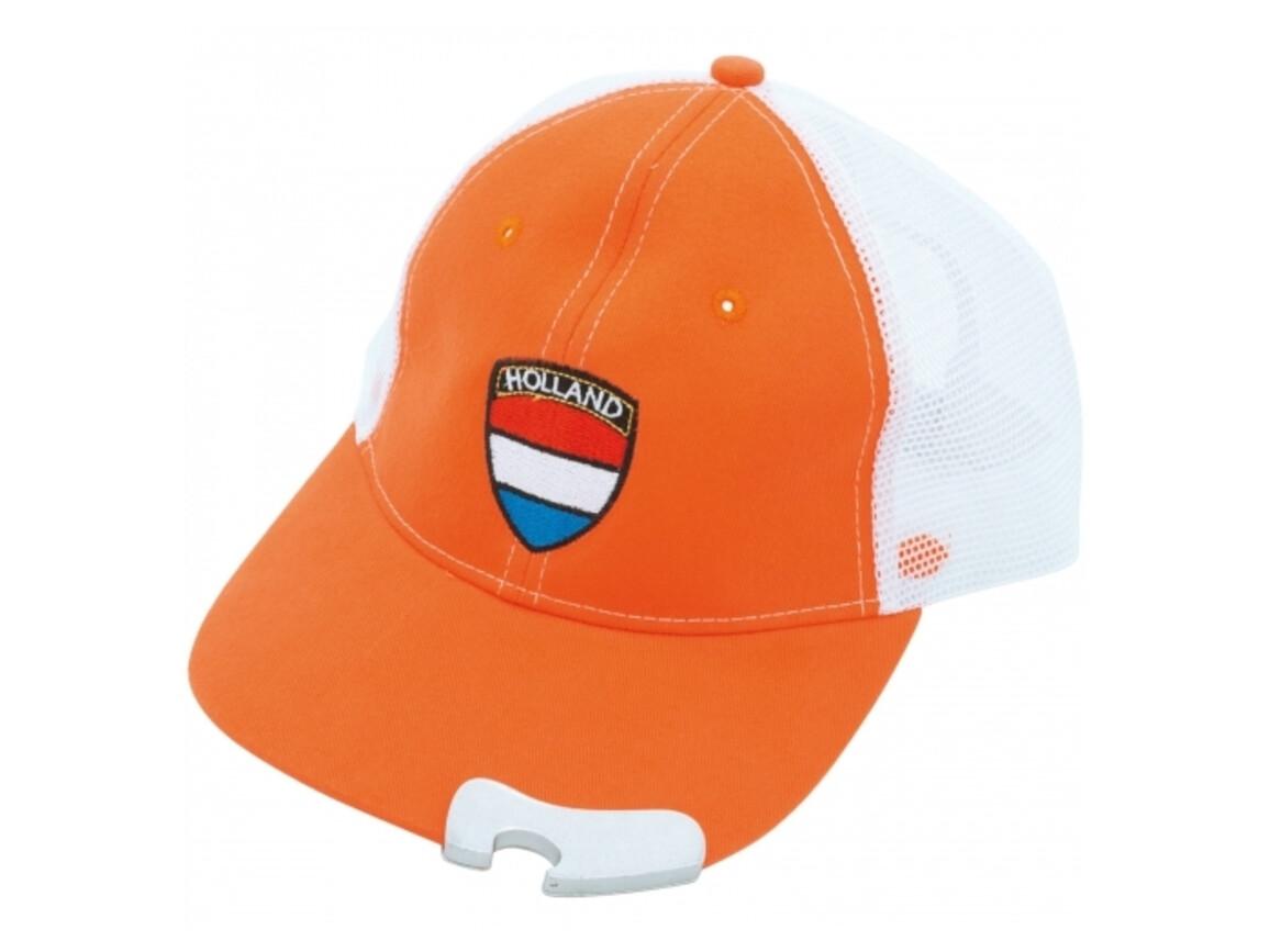 Holland Cap mit Flaschenöffner - Orange bedrucken, Art.-Nr. LT16603-N0026