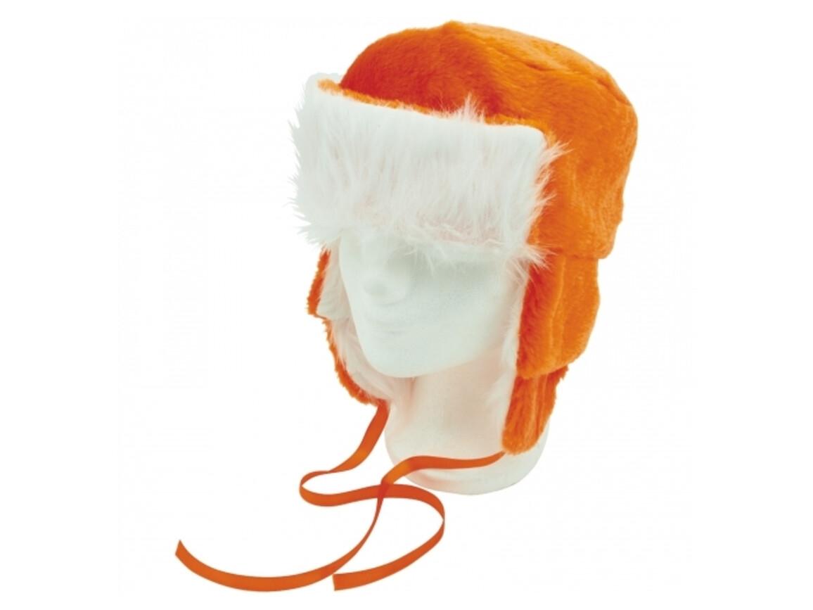 Pelzmütze Holland - Orange bedrucken, Art.-Nr. LT16618-N0026