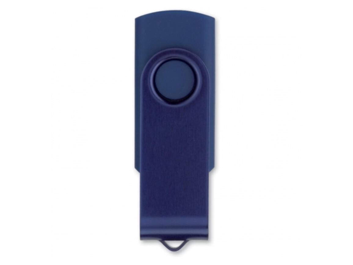 USB 4GB Flash drive Twister - Dunkelblau bedrucken, Art.-Nr. LT26402-N0010