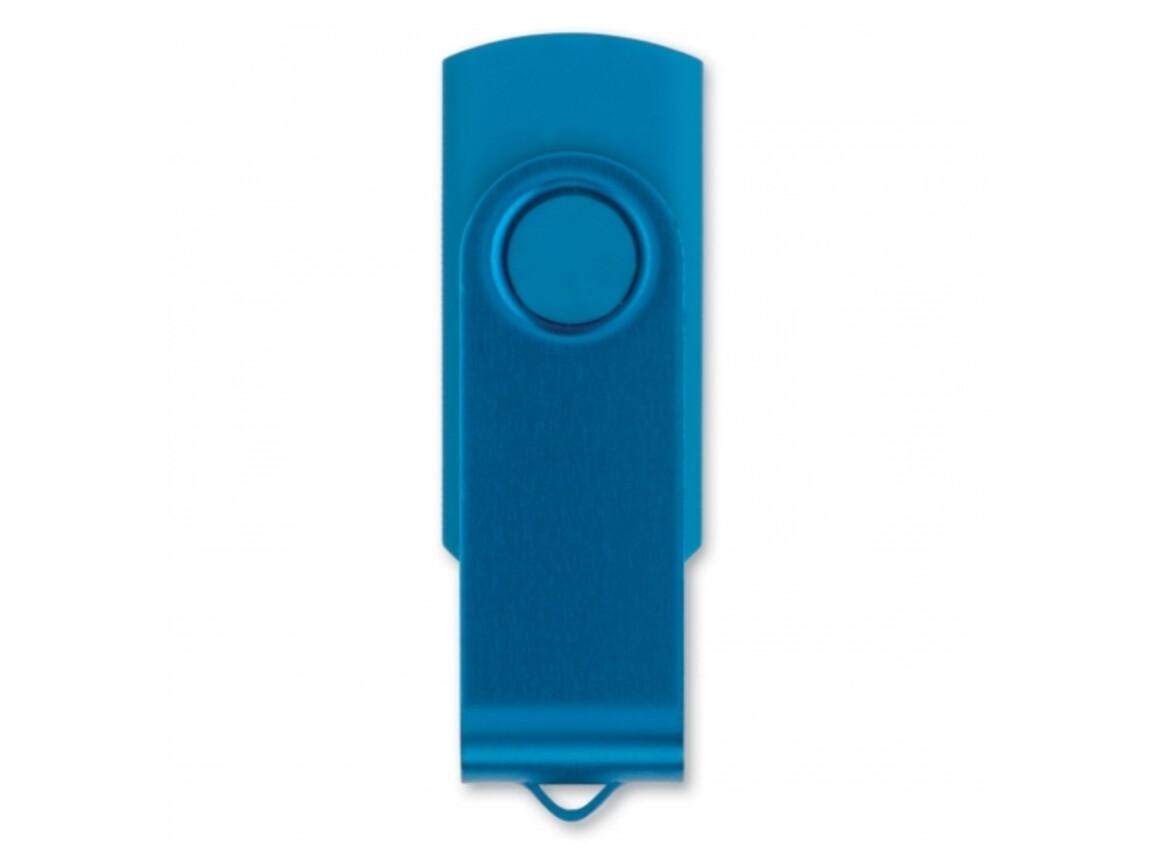 USB 4GB Flash drive Twister - Hellblau bedrucken, Art.-Nr. LT26402-N0012