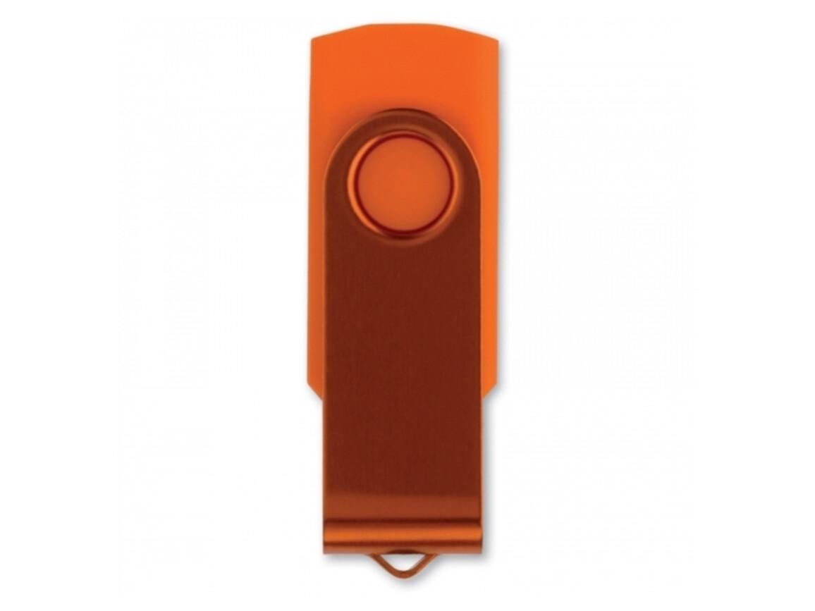 USB 4GB Flash drive Twister - Orange bedrucken, Art.-Nr. LT26402-N0026