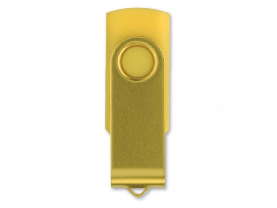 USB 4GB Flash drive Twister - Gelb bedrucken, Art.-Nr. LT26402-N0041