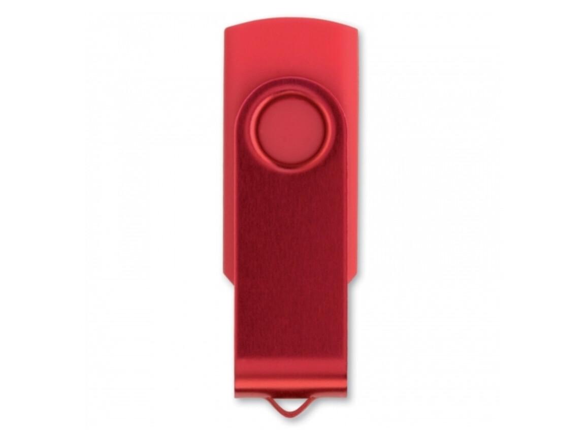 USB 8GB Flash drive Twister - Rot bedrucken, Art.-Nr. LT26403-N0021
