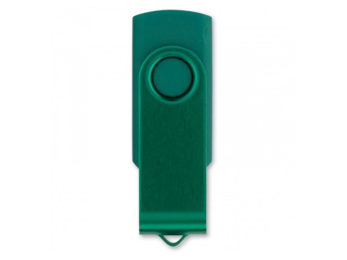 USB 8GB Flash drive Twister - Dunkelgrün bedrucken, Art.-Nr. LT26403-N0030