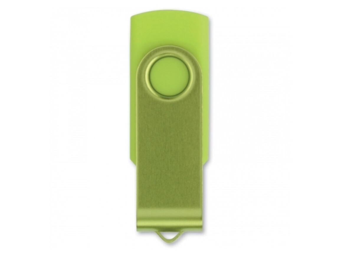 USB 8GB Flash drive Twister - Hellgrün bedrucken, Art.-Nr. LT26403-N0032