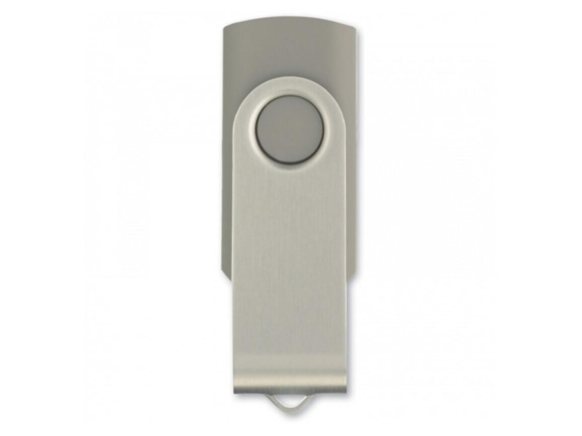 USB 8GB Flash drive Twister - Grau bedrucken, Art.-Nr. LT26403-N0061