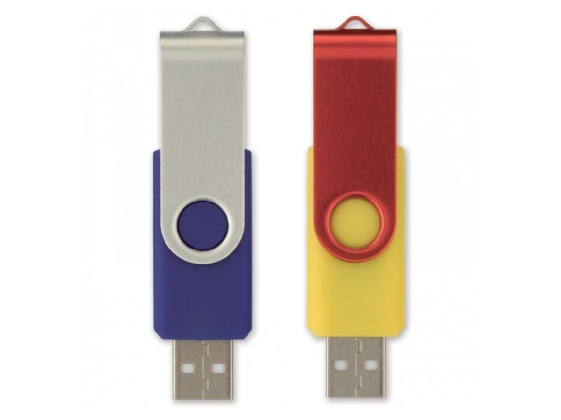 USB 8GB Flash drive Twister - Kombination bedrucken, Art.-Nr. LT26403-N0999