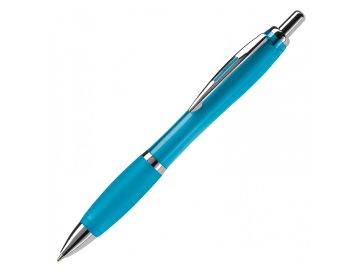 Kugelschreiber Hawaï transparent - Transparent Hellblau bedrucken, Art.-Nr. LT80423-N0412