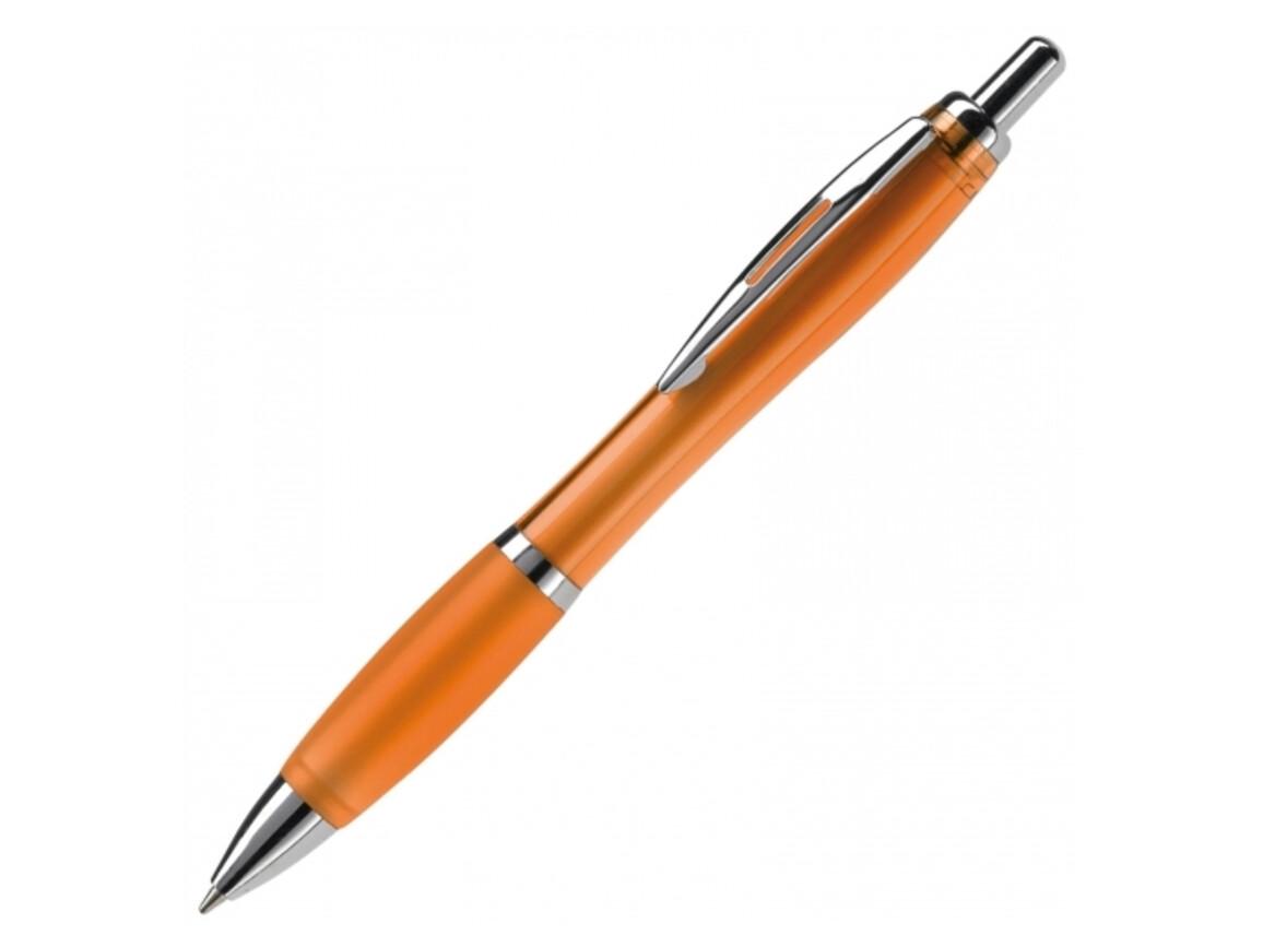 Kugelschreiber Hawaï transparent - Transparent Orange bedrucken, Art.-Nr. LT80423-N0426
