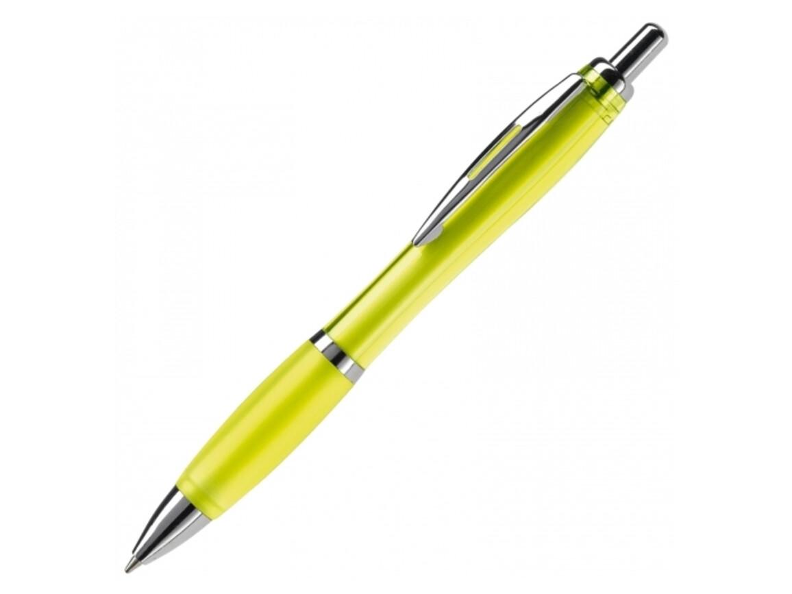 Kugelschreiber Hawaï transparent - Transparent Gelb bedrucken, Art.-Nr. LT80423-N0441