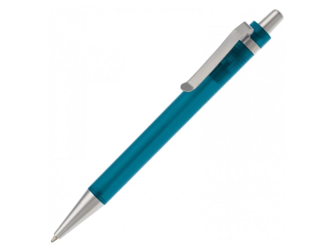 Kugelschreiber Antartica - Gefrostet Hellblau bedrucken, Art.-Nr. LT80435-N5412