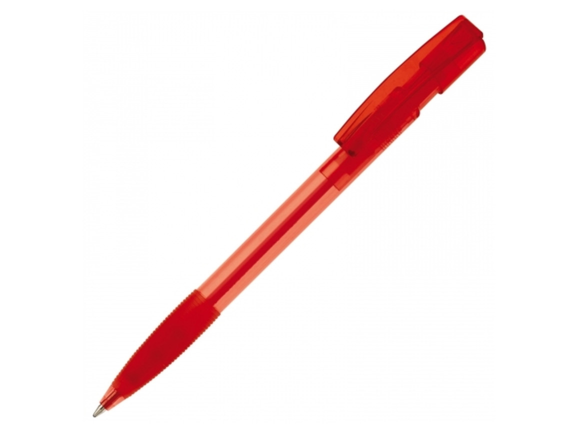 Kugelschreiber Nash Transparent - Transparent Rot bedrucken, Art.-Nr. LT80802-N0421