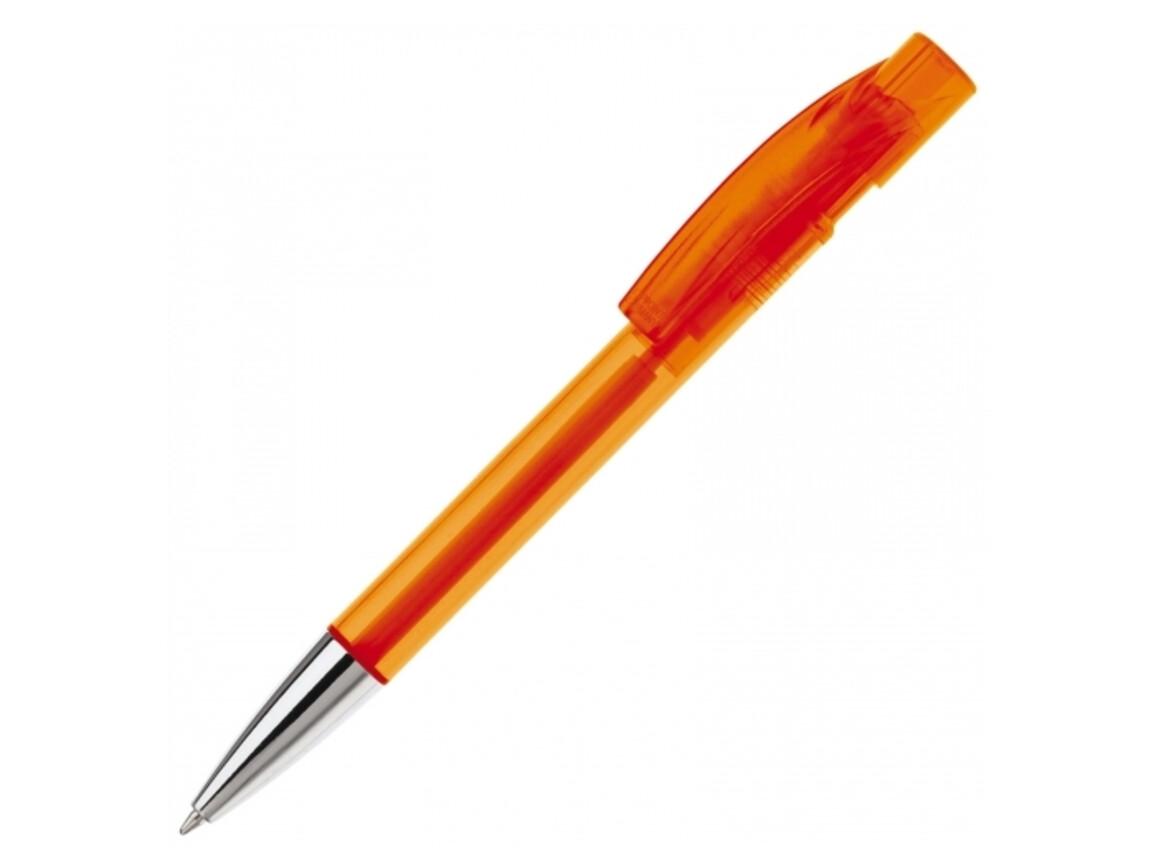 Kugelschreiber Wega Transparent Metal Tip - Transparent Orange bedrucken, Art.-Nr. LT80811-N0426