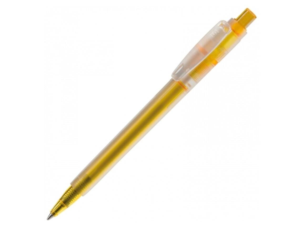 Kugelschreiber Baron '03 Ice Frosty - Gefrostet Gelb bedrucken, Art.-Nr. LT80902-N5441