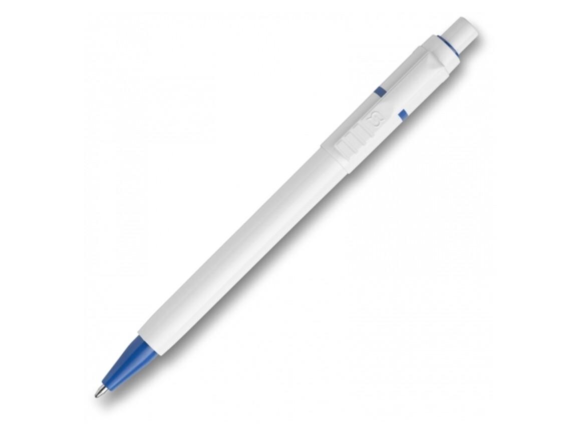 Kugelschreiber Baron hardcolour - Weiss / Hellblau bedrucken, Art.-Nr. LT80906-N0112