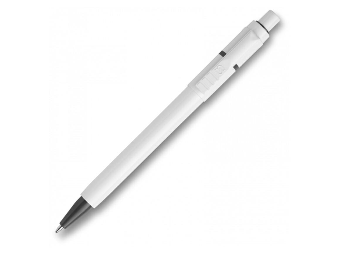 Kugelschreiber Baron hardcolour - Weiss / Grau bedrucken, Art.-Nr. LT80906-N0161