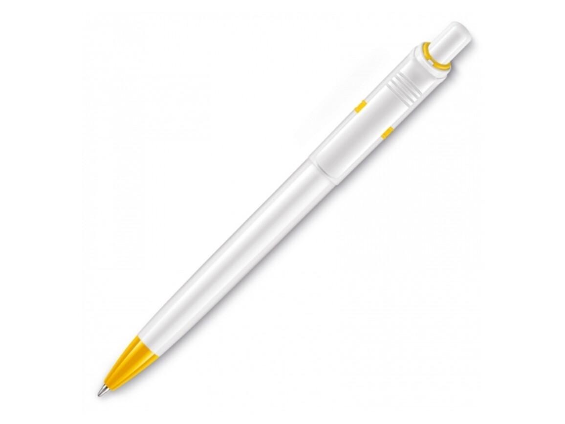 Kugelschreiber Ducal hardcolour - Weiss / Gelb bedrucken, Art.-Nr. LT80907-N0141