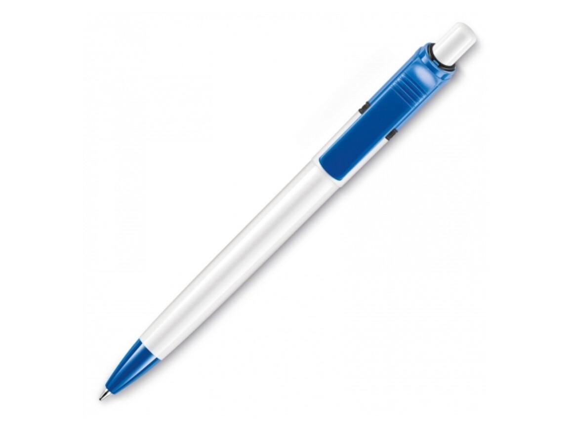 Kugelschreiber Ducal Colour hardcolour - Weiss / Hellblau bedrucken, Art.-Nr. LT80909-N0112